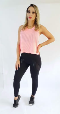 Cropped Basic Coral